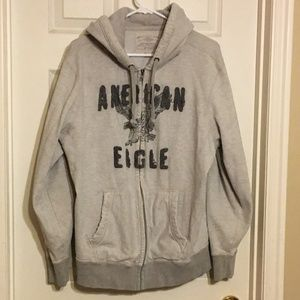 Vintage Zip-Up Hoodie American Eagle